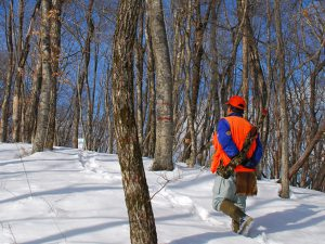 猟師と一緒に山歩き